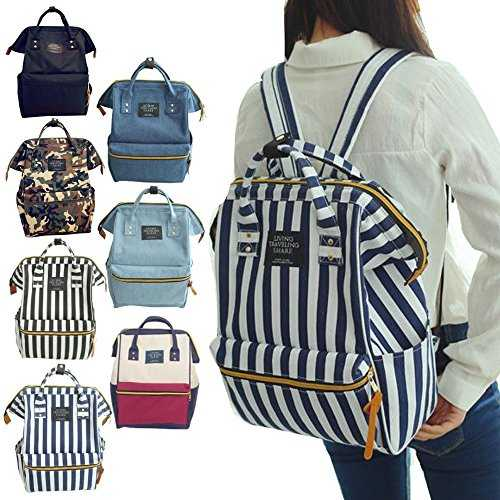 HZH Literary Folk Style Shoulder Bag Large-Capacity Canvas Woven Wild National Flower Female Backpack