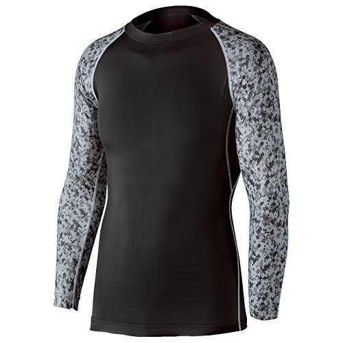 97106a59e09 Mumps Bag Body Toughness Cool Deodorant Power Stretch Long Sleeve Crew Neck  Shirt JW - 623 Black x Camouflage S (S Black x Camouflage): Model: JW - 623  ...