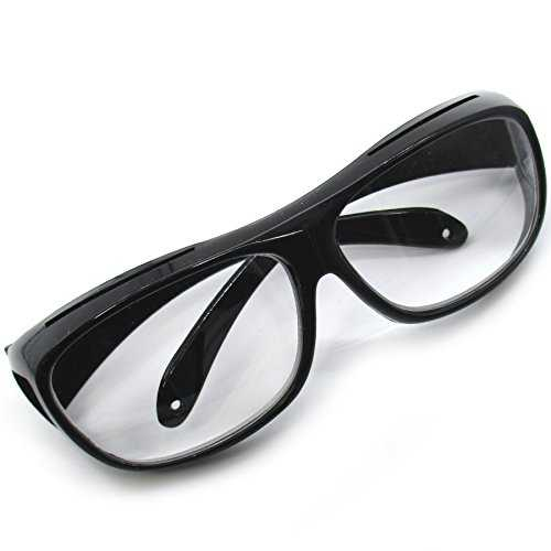 4f6f54231096 Eyeglass type loupe overglass Eyeglasses hanging from above glasses  magnifying magnification 1.6 times (black): Glass eyeglasses Loupe over glasses  Glasses ...