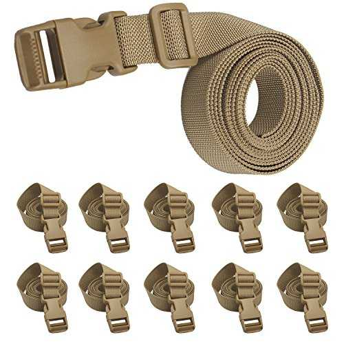 Molle backpack accessory strap quick release buckle (deep khaki - 10pcs): Label: JETEDC Title: Molle Backpack Accessory Strap Quick Release Buckle (Deep ...