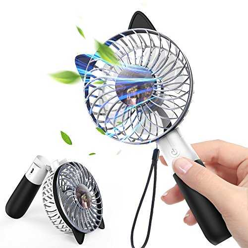 Witspace Portable Hand Fan USB Rechargeable Foldable Handheld Mini Fan Blue