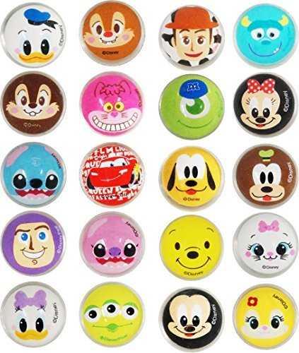 Emoji Face Round 30mm Chocolate Coin Logo Stickers Birthday Party Label Kids x48